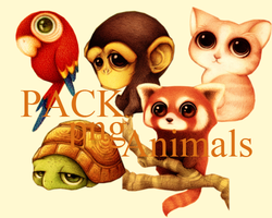 Pack animales png 1 by BlissHaruno