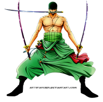 Roronoa-Zoro-render-by-Archer by ArtOfArcher