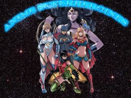 DC Anime Superheroines by SWFan1977