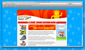 Sweet Jumps Website Design by AreoX