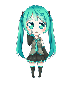 Crybaby Miku by HappyClementine