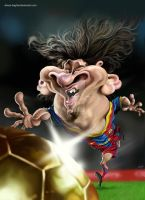 Lionel Messi Caricature by alireza-bagheri