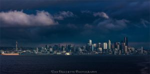 Christmas Eve in Seattle by metacom