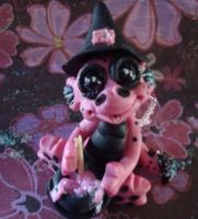 polymer clay ooak dragon pinki by crazylittlecritters
