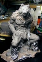 Werewolf figure WIP full view by Meadowknight