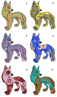 Adoptables 2 - free [CLOSED] by RedSwagStory