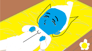 Sleeping Baby Smurf. by Smurfette123