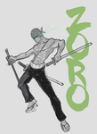 The Green Devil Roronoa Zoro by Devilicous