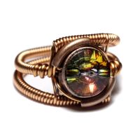 Steampunk Ring Volcano 2 by CatherinetteRings