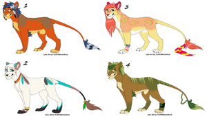 Lion Adoptions (15 point) by NayeliofBeginnings