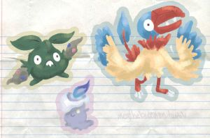 Some more pokemon by Megalosaurus