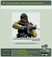 Counter-Strike: Source Icon v5 by CODEONETEAM