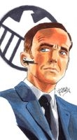 Agent Coulson sketch by Rider4Z