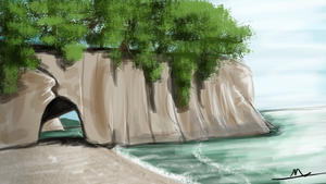 161 - Cathedral Cove by Shasel