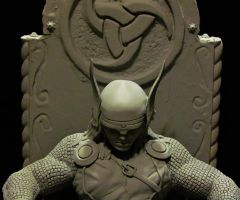 Thor statue unpainted close by mycsculptures