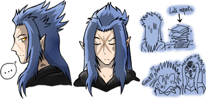 Practice Doodles of Saix by SoftMonKeychains