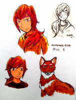 OC: Andry Sketches by AlbinoBadger