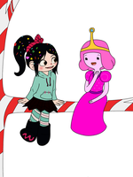 ~Vanellope and PB~ by Starry-Bat1