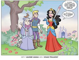 Wonder Woman As Disney Princess by BillWalko