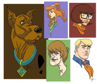 Scooby and the Gang by MBorkowski