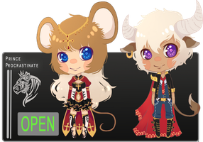 [ Zodiac Auction ] Mouse and Ox [ CLOSED ] by PrinceProcrastinate