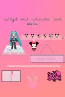 xwidget and rainmeter pack by Rachel-Selenator
