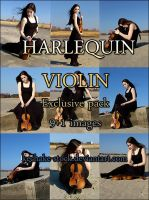 HarlequinViolin exclusive pack by Kechake-stock