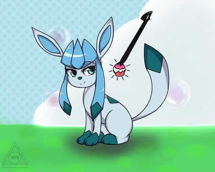 Glaceon in Poke Amie by AWinterMoose