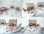 Gingerbread Houses by BlackCurtains
