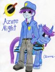 Azure the Captain of the Night Watch by The1King