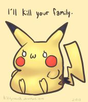 Passive Aggressive Pikachu by KittyCouch