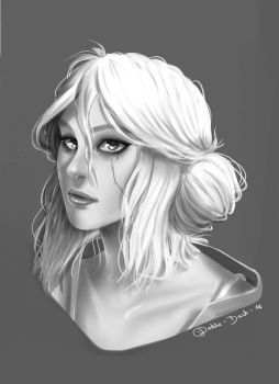 Ciri - The witcher 3 Wild Hunt by BlueAquarelle