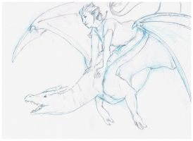 Chrisi and Charizard by UbiquitousWolf