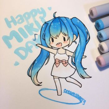 Happy Miku Day by creamsherry
