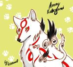 Ammy  and Kabegami by brown-she-wolf
