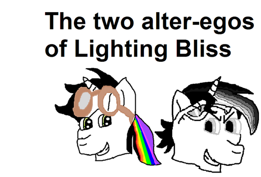 The Two alter Egos of Lightning Bliss by mylittleponyfan100