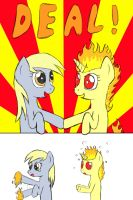 Derpy dealing with fire by GvimBlade