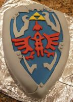 Hylian Shield Cake by CeruleanSerene