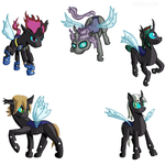 Changeling OCs by Shiki01