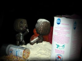 SackBoy Making Cakes by admixgrafix