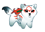 Chibi Okami by TheMysticWolf
