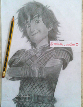 Drawing hiccup(rtte) by RooniNooriCreations1