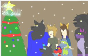 Merry Christmas contest entry by WerewolfProtecter