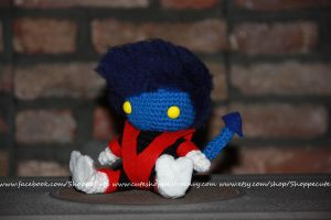 X-Men Nightcrawler Amigurumi by cindyswindy