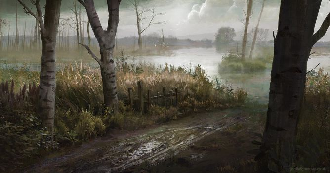 Marshland Path by jordangrimmer
