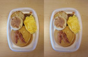 Stereograph - Hot Cakes and Sausage by alanbecker