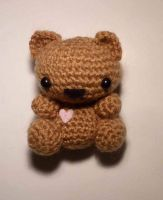 Cute amigurumi tiny teddy bear by Ulvkatt