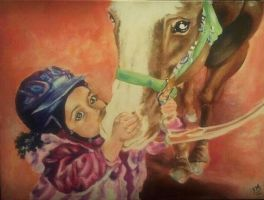 Little one with horsey by yessica83