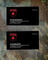 business card for security company TITAN by sounddecor