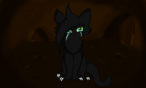 Hollyleaf in the tunnels. by DizzyIceSpark